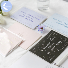YueGuangXia 8 Designs Card Delicate Lines Blessing Transparent Envelope Dream Mirror Friend Family Christmas Birthday Gift