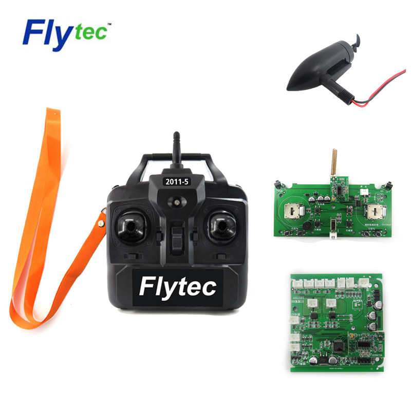 Flytec 2011-5 Generation 2.4G 4CH Transmitter/12.5*3.5*7cm Brushed Motor/Hull Circuit Board For Bait RC Boat Model Spare Parts