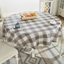 Proud Rose Waterproof Round Table Cloth PVC Cover Oil-proof European Household Plastic Tablecloths