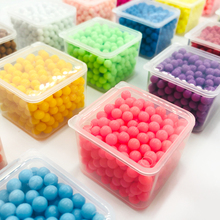 300pcs/box 36colors Multicolor Magic Puzzle Toys Water Mist Bead Set DIY Craft Animal Handmade Sticky Beads Educational Kid