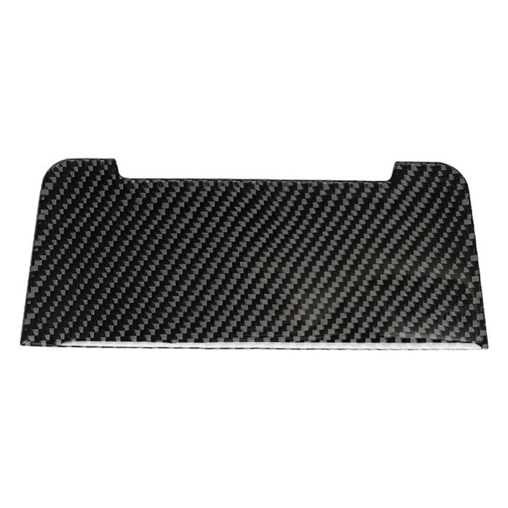 1Pc 182*73mm Automotive Interior Supplies Carbon Fiber Interior Cigarette Lighter Panel Cover Trim For Audi A4 B8 A5 Q5 image