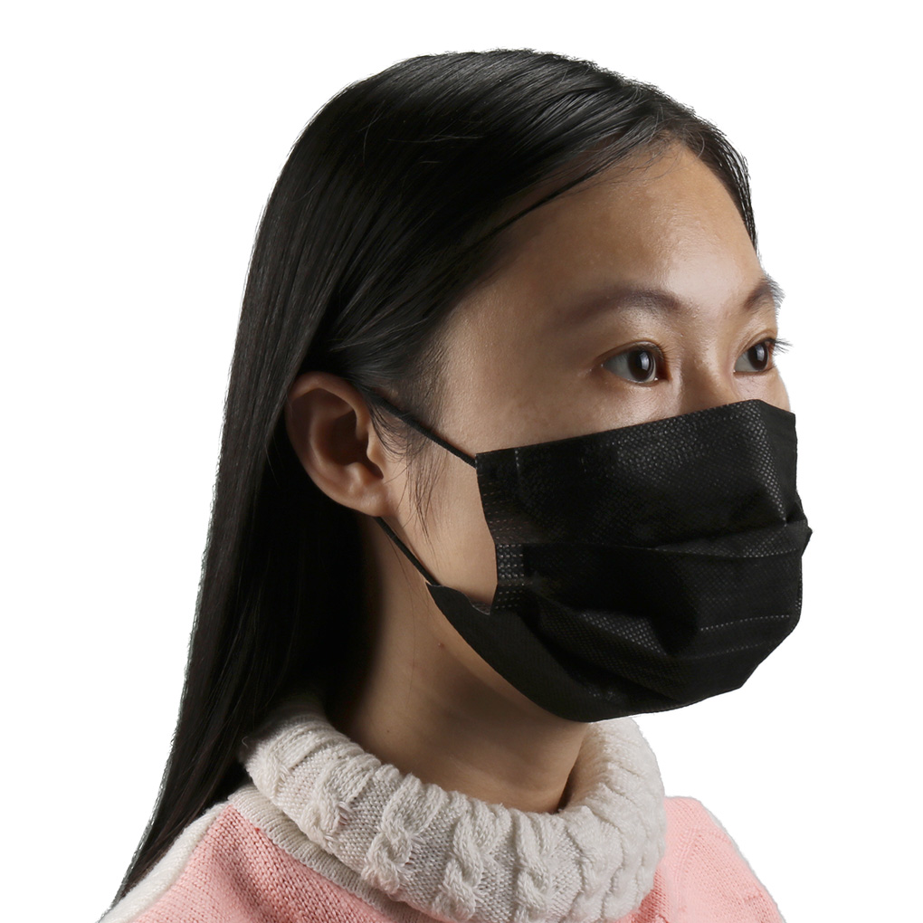 10Pcs Mouth Mask Disposable Black Masks Pm 2.5 Mouth Face Mask Solid Color Mask Anti-Dust Mask Earloop Activated New