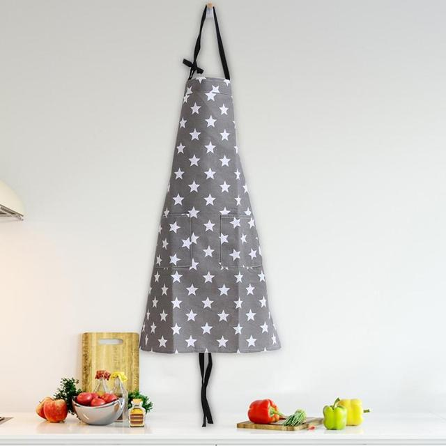 Simple Unisex Apron Kitchen Sleeveless Apron Waterproof Cotton Star Painting Home Kitchen Accessories for Cooking Kitchen 5