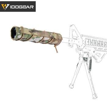 """IDOGEAR 18cm 7 """"supresor cubierta silenciador calor Escudo de cubierta de manga silenciador Tiro Táctico Airsoft accesorios 3529"""