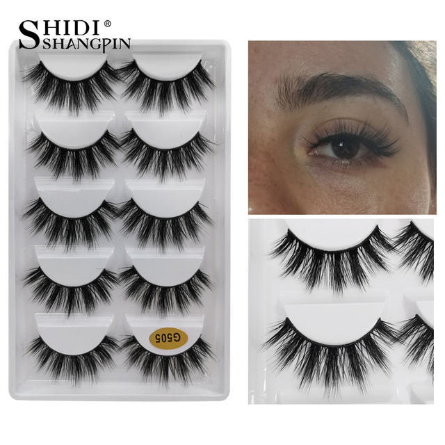 5 Pairs Natural long Eyelashes Makeup False Eyelashes Full Strip Lashes Mink Eyelashes Thick 3d Mink Lashes maquillaje faux cils 3