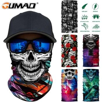 3D Seamless Skull Magic Tube Neck Gaiter Cover Face Sports Mask Camping Cycling Fishing Warmer Bandana Headband Scarf Men Women 1