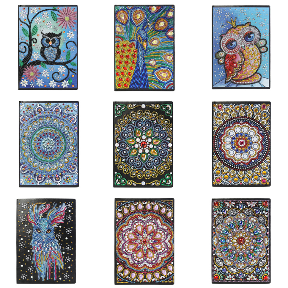 DIY Mandala Special Shaped Diamond Painting 50 Pages A5 Sketchbook Xmas Gifts