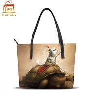Tortoise Handbag Tortoise Top handle Bags Teen High quality Leather Tote Bag Trendy Print Wide Women Handbags