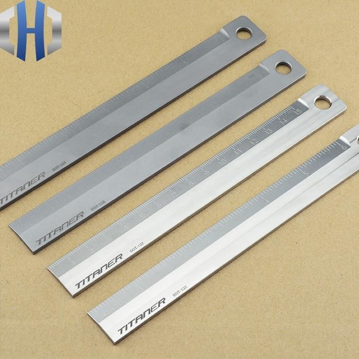 Titanium Alloy Metric Ruler Primary School Stationery Ruler 15cm Measurement Tool Drawing Ruler