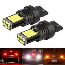 2PCS 2020 New T20 7443 W21/5W Super Bright 3030 LED Car Tail Brake Bulbs Turn Signals Auto Rear Fog Lamp Daytime Running Lights