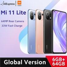 Xiaomi – Smartphone Mi 11 Lite, en Stock, Version globale, Snapdragon 732G Octa Core, 6 go de RAM 64 go de ROM, caméra arrière 64mp, NFC, 157g de lumière