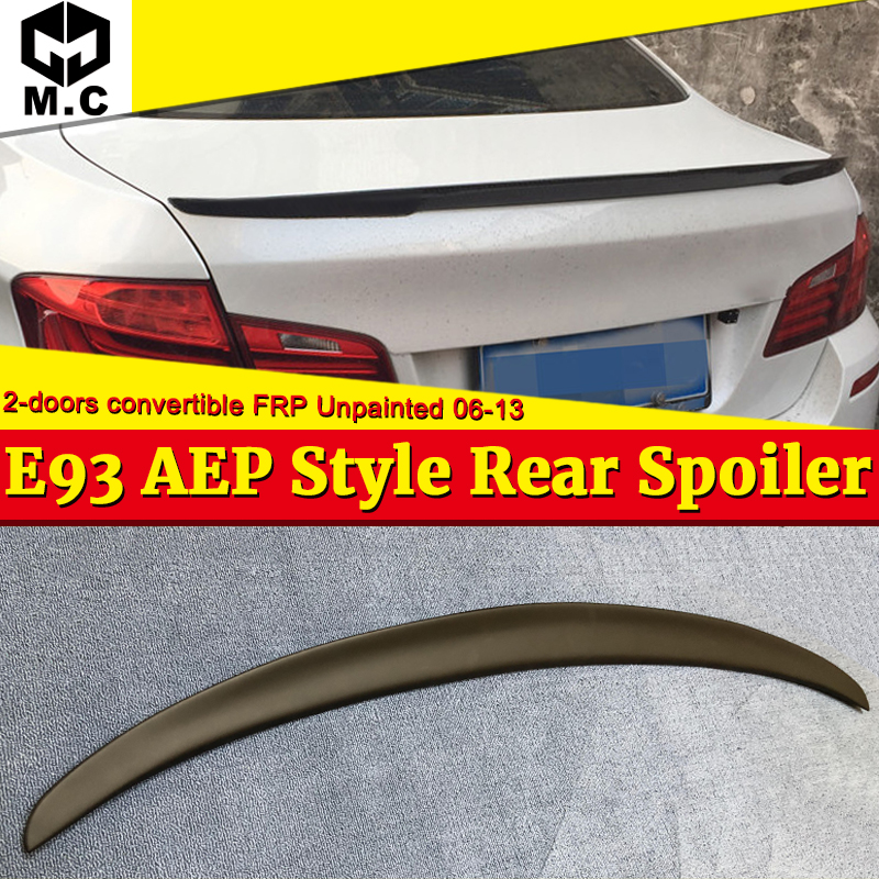 For BMW E93 M3 Spoiler wings P Style FRP Unpainted 3 series 2 Coupe Convertible 320i 330i 328i rear trunk Spoiler M look 2006 13 in Spoilers Wings from Automobiles Motorcycles