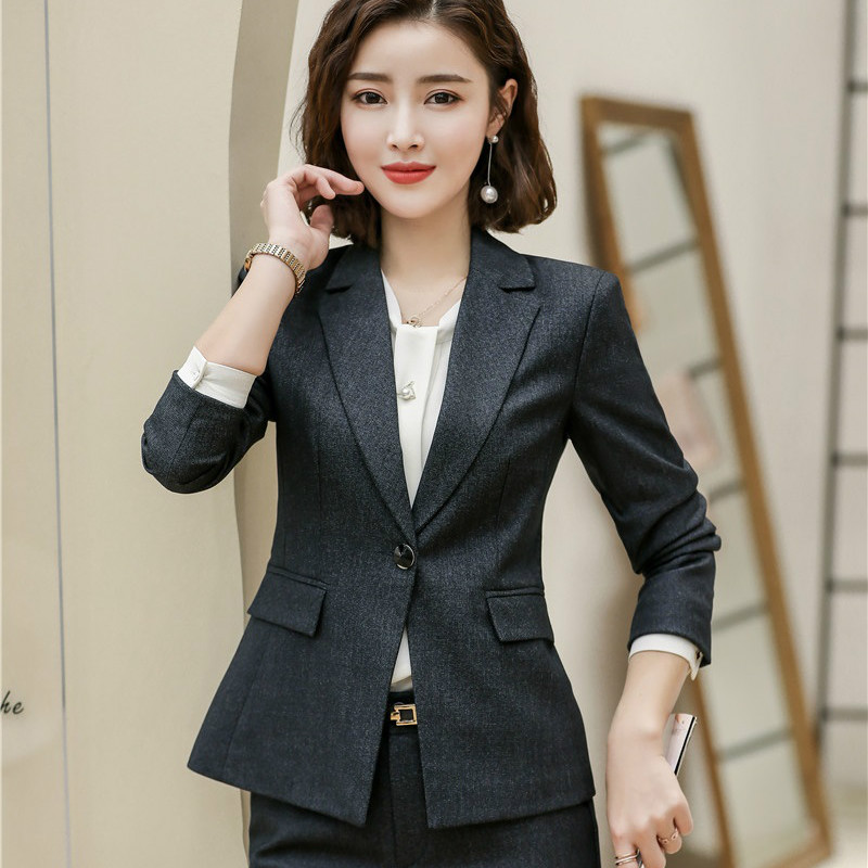 Female Elegant Formal Office High Quality Women Blazers and Jackets Black Office Ladies Business Work Uniform Clothes OL Styles