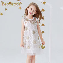 цена на Bear Leader Embroidery Girls Dress New Princess Dress Cute Girls Clothes Flowers Dresses Kids Dresses for Girls 3 7Y Clothes