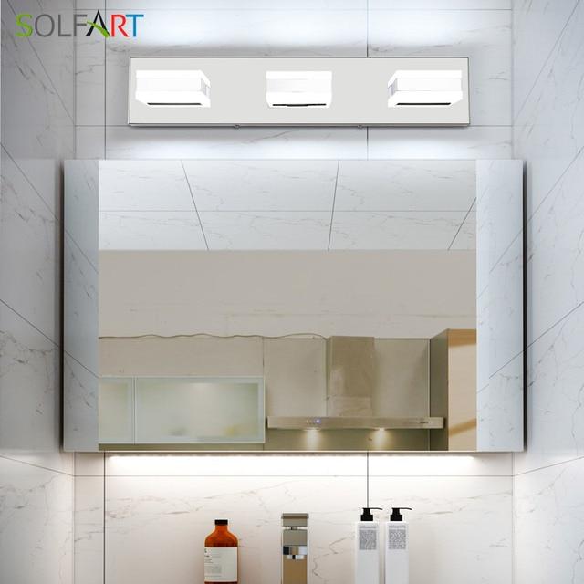 Modern Black Bathroom Vanity Lights Over Mirror 4 Lights Acrylic Bath Wall Lighting 2
