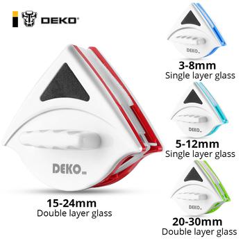 DEKO magnetyczny do okna środek do czyszczenia szkła domowe urządzenia do oczyszczania wycieraczka magnes dwustronnie magnetyczna szczotka do szyby narzędzie do mycia tanie i dobre opinie DEKOHM CN (pochodzenie) Ekologiczne Na stanie DKMP14S Okno Z tworzywa sztucznego Glass Cleaner Double Side Clean Window Wiper
