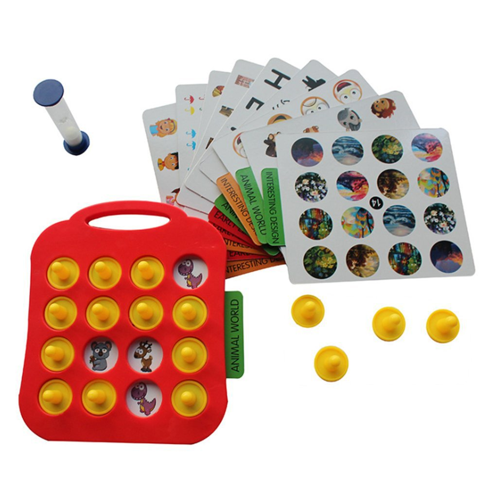 Children's puzzle game Classic Grid Board Family Fun Game 2 Players Children's puzzle game
