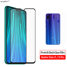 лучшая цена 2-in-1 Front + Back Glass Film Redmi Note 8 Tempered Glass Xiaomi Redmi Note 8 Pro Screen Protector redmi note 8 pro Back Film
