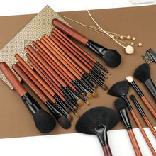 Natural Goat Hair Makeup Brush Set for Eye Shadow Face Powder Blush Contour Blending Smudge Shader pinceaux maquilla