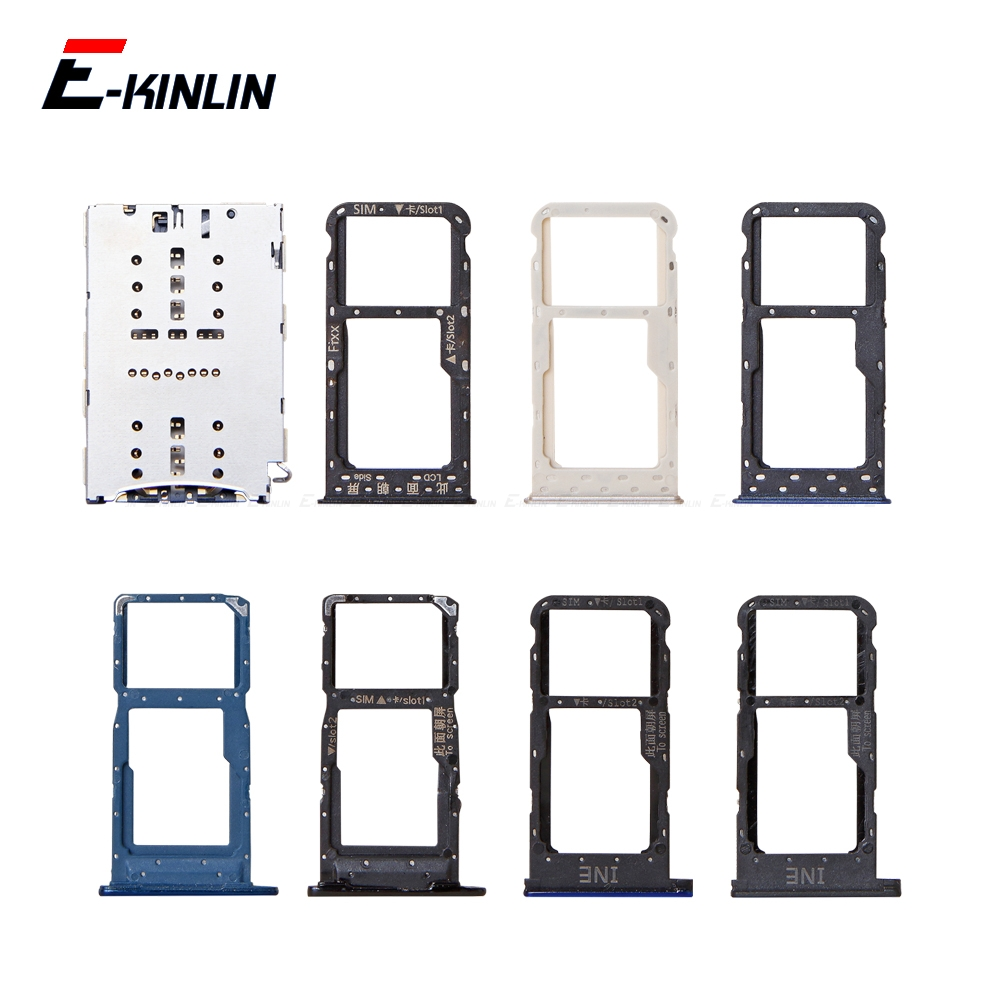 Sim Micro SD Card Socket Holder Slot Tray Reader For HuaWei P Smart Plus 2019 2018 Adapter Container Connector Replacement Parts