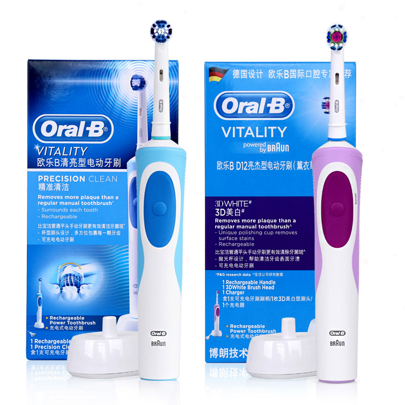 Image 5 - Oral B D12 Sonic Toothbrush Rotating  D12013 Rechargeable Teeth Brush Oral Hygiene Tooth Brush OralB brush adults Replace heads-in Toothbrushes from Beauty & Health