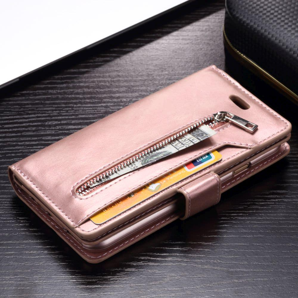 Zipper Wallet Phone Case For Samsung Galaxy S20 Ultra S8 S9 S10e S10 Plus S7 Edge Note10 8 9 Leather Magnetic Cover