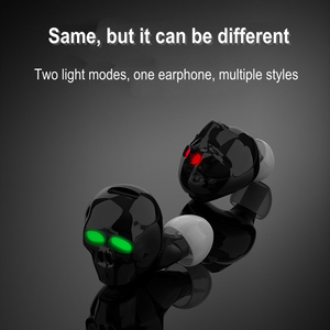 Image 2 - 2020 New Skull Bone Bluetooth Earphone with Microphone Noise Cancelling Hi Fi Handsfree Bass Stereo Mini Micro Earbud Earpiece