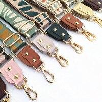 Correas de colores para bolso de mujer, accesorios de bandolera de hombro, correas bordadas ajustables, 1 ud.