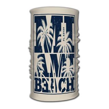 Diadema con diseño de palmeras de Miami, sello gráfico, etiqueta Bandana, casco, máscara de tubo pasamontañas