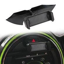 Artudatech preto slot de painel do carro metal suporte do telefone móvel montagem para mini cooper f54 f55 f56 f57 f60 acessories