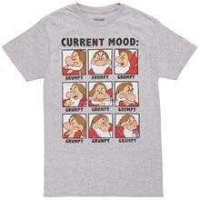 Camiseta adulto rabugento do humor atual da neve branca