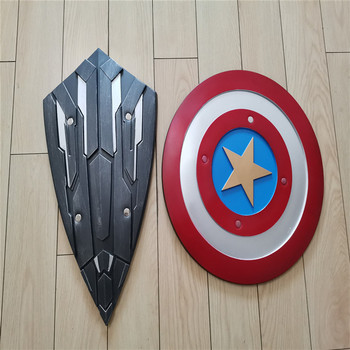 2 Style Cosplay Captain America Shield Steve Rogers Prop Weapon Superhero PU Shield Prop Halloween Gift Shield 2pcs/set 2 style captain america shield steve rogers cosplay prop superhero shield pu props halloween party toy 2pcs set