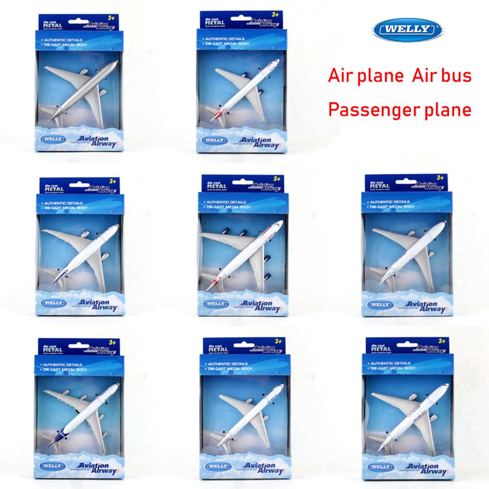 WELLY Alloy Model 1:500 340 380 747 757 767 777 787 Passenger plane airliner Airbus For Collection Children Friend Gift image