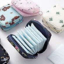 Тампон Хранение Пакеты для Туалетных принадлежностей Помада Менструальный Гигиенический Салфетки Прокладки