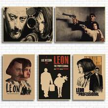 Wall Stickers Leon The Professional Vintage Movie Poster Retro Poster Wall Decoracion Pared Home Decor Decoration