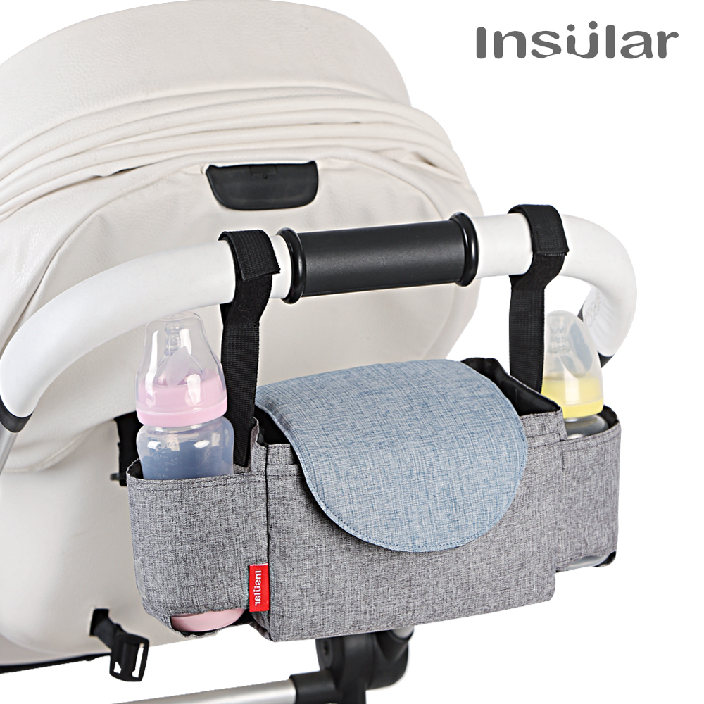 INSULAR Baby Stroller Organizer Bottle Cup Holder Diaper Bags Maternity Nappy Bag Accessories For Portable Baby Carriage M914