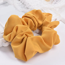 Korean Jewelry Hair Accessories Candy-colored Solid Fabric Chiffon Headband Flower Headdress Hair Rope Scrunchie(China)