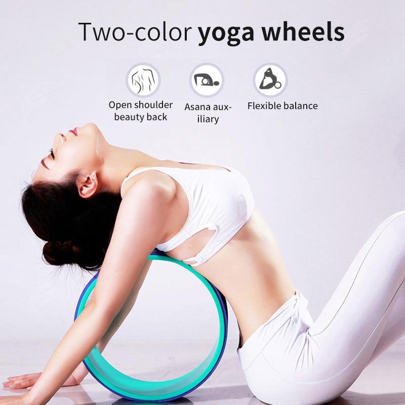 Yoga Pilates Circle Yoga Wheel Bodybuilding Fitness Equipment Yoga Wheel Professional Waist Shape Pilates Nonslip Back