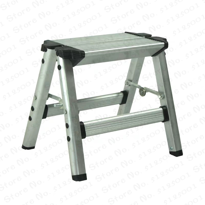 150KG Folding Ladder Maximum Load 2 Step Stool Ladder Anti Slip Safety Aluminium Ladder