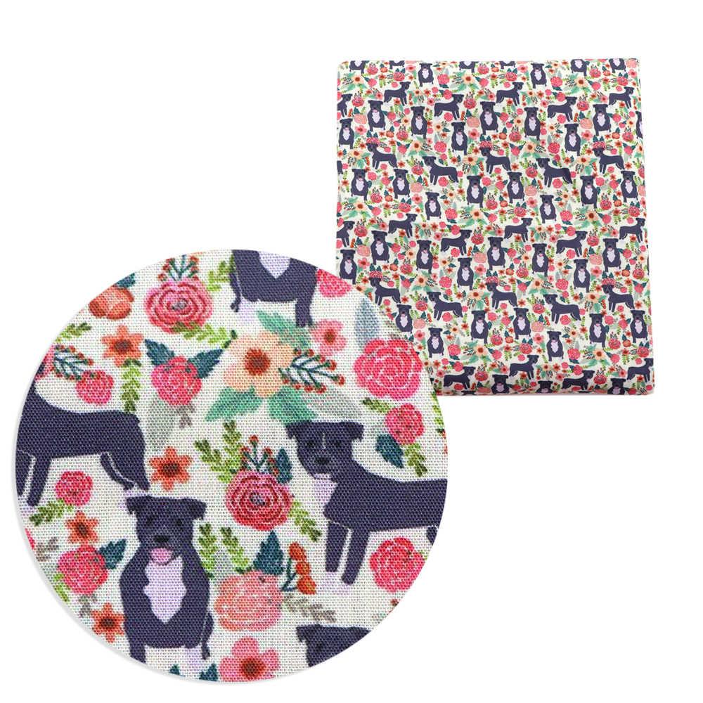 50*140cm dessin animé imprimé Polyester coton tissu Patchwork pour couture robe tissu faisant marionnette bricolage housse de coussin, c8472