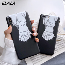 ELALA Glossy Matte Case For iPhone Xr Abstract Space Funny Stripe Soft Cover X Xs Max 6S 7 8 Plus Cases Lover