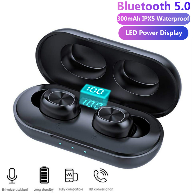 TWS Bluetooth Earphones Streo Wireless Earbuds With LED Power Display Case 3D Stereo Sound IPX5 Waterproof Whit Charging Box