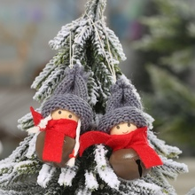 Get more info on the 2PCS Christmas Bells Plush Doll Xmas Tree Hanging Pendants Decorative Holiday Ornaments Christmas Decorations For Home NavidadCM