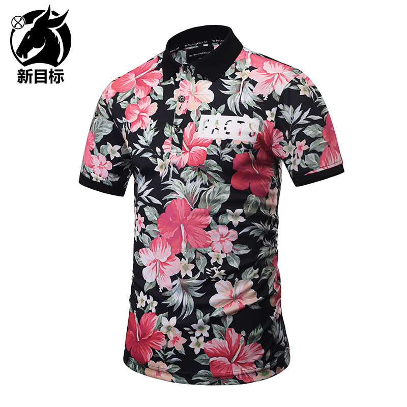 Foreign Trade 2019 Summer Wear New Style Digital Plant Flower 3D Printed   Polo   Shirt Street Youth Popular Brand Tops