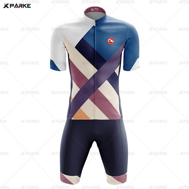 Novo 2020 triathlon terno de manga curta camisa ciclismo skinsuit macacão maillot ciclismo ropa ciclismo conjunto roupas 2