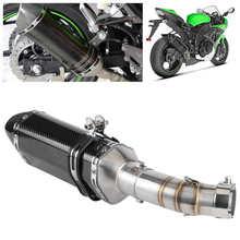Exhaust-System Kawasaki Ninja Z400 Muffler Db Killer Carbon-Fiber-Style Slip-On Mid-Pipe