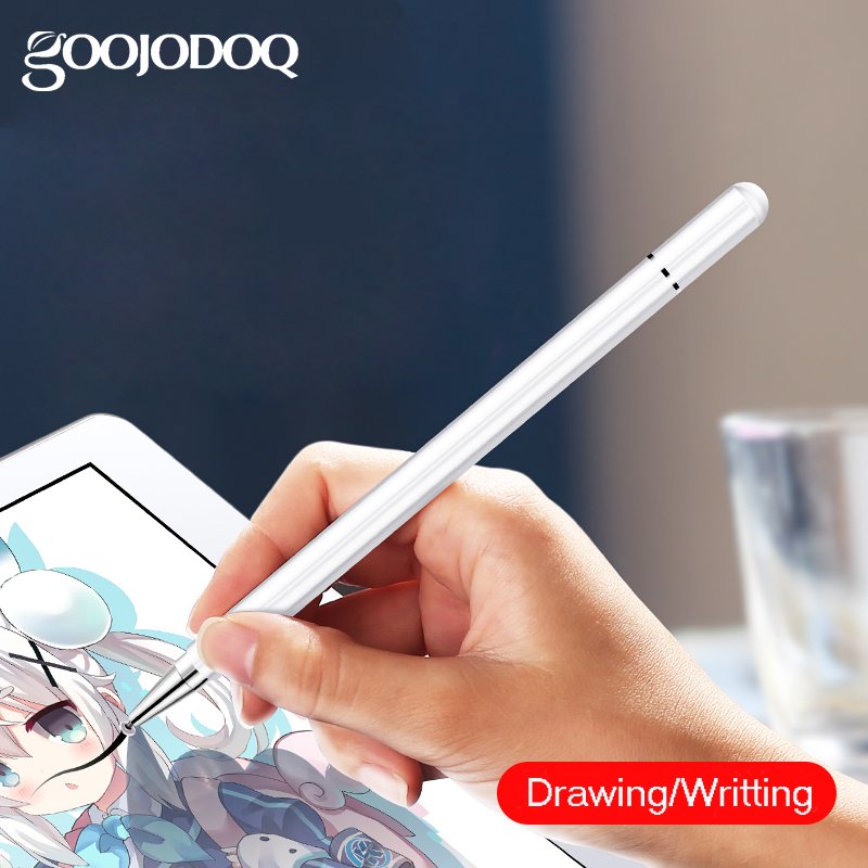 GOOJODOQ Capacitive Stylus Touch Screen Pen Universal For IPad Pencil IPad Pro 11 12.9 10.5 Mini Huawei Stylus Tablet Pen Phone
