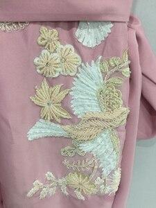 Image 3 - Abendkleider luxo longo sereia rosa frisado cristais calças elegantes para casamentos vestidos de festa à noite robe de soiree
