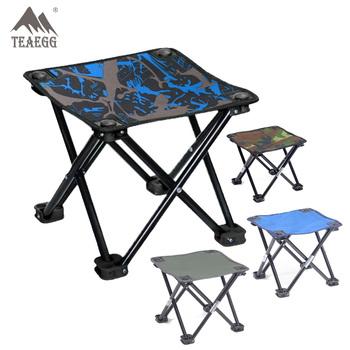 2020 Outdoor protable stołek składany grill krzesło Ultralight Camping piesze wycieczki oparcie składane krzesło siedzenia na stołki rybackie tanie i dobre opinie TEAEGG