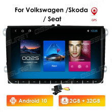 2 Din Android10วิทยุนำทาง GPS สำหรับ VW Passat B6 Amarok Volkswagen Skoda Octavia Superb Jetta T5 Golf มัลติมีเดียแผนที่